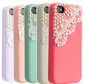 Iphone Case with pearls