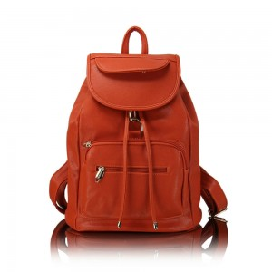 red Leather Satchel Bag 02