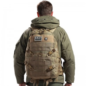 man with jacket and back pack