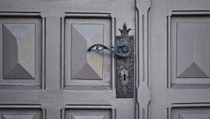 gray door handle